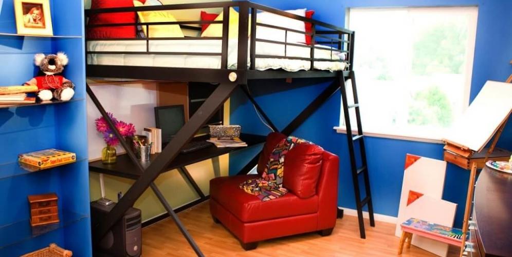 Выбираем кровать-чердак для подростка: виды, особенности и преимущества мебели