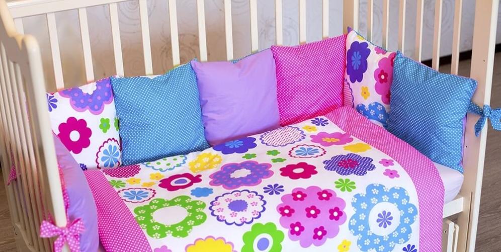 Бортики-подушки для кроватки – залог безопасности и спокойного сна