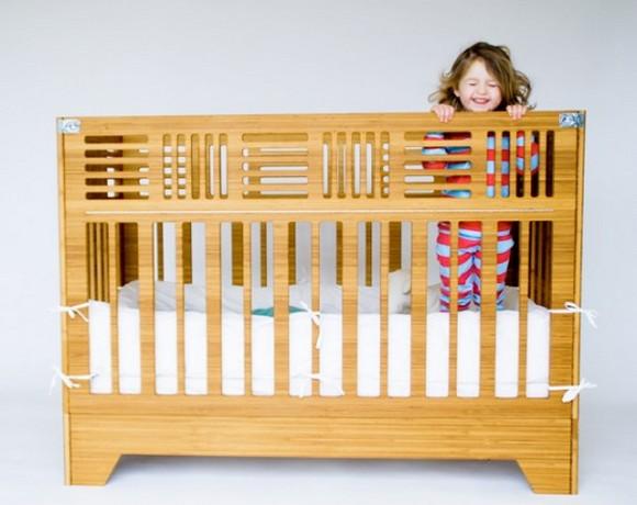 Детская кроватка из бамбука