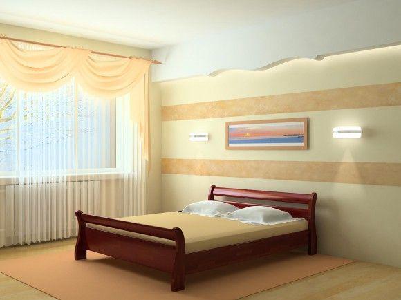 деревянная кровать в светлом