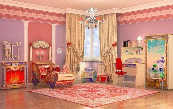 Детская кровать для девочки в интерьре