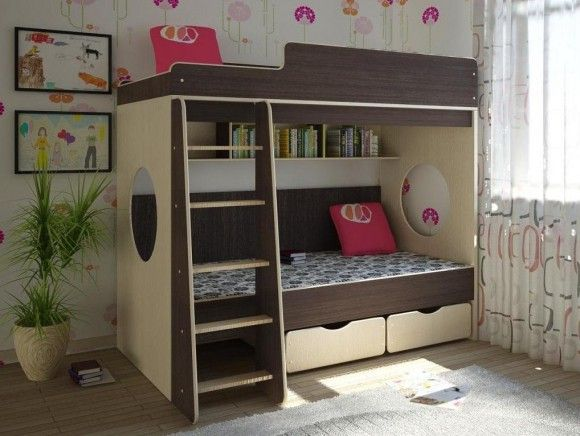 Двухъярусная кровать с бортами