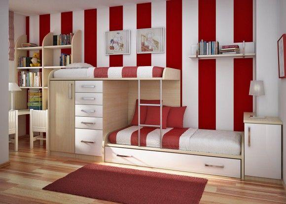 Кровать двухъярусная с ящиками на всю высоту