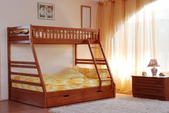 Детская двухъярусная кровать с бортиками