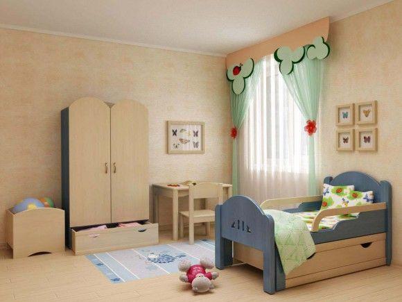 Детская кровать с ящиком
