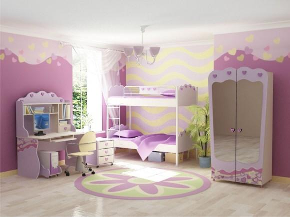Кровать для девочек в интерьере