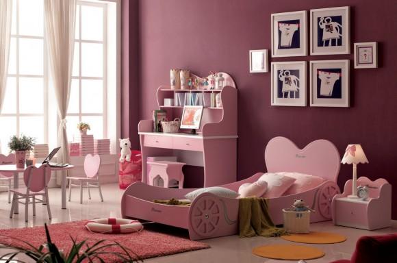 Кровать с бортиками для девочки
