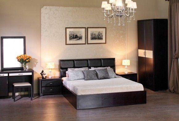 Кровать из дерева венге