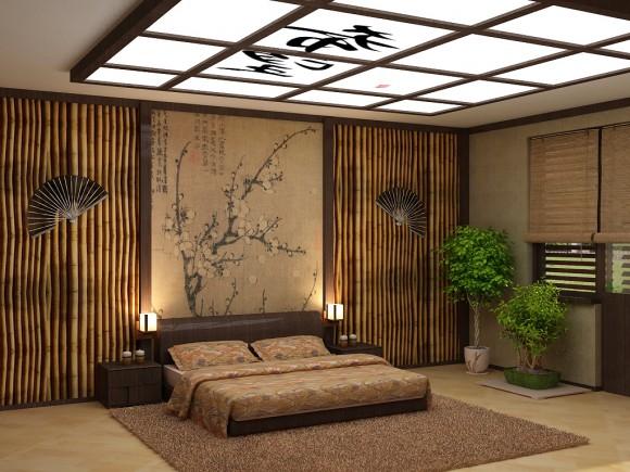 Спальня с бабмбуком
