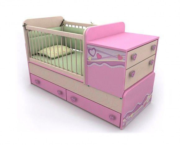 Кроватка для новорождённых для девочек