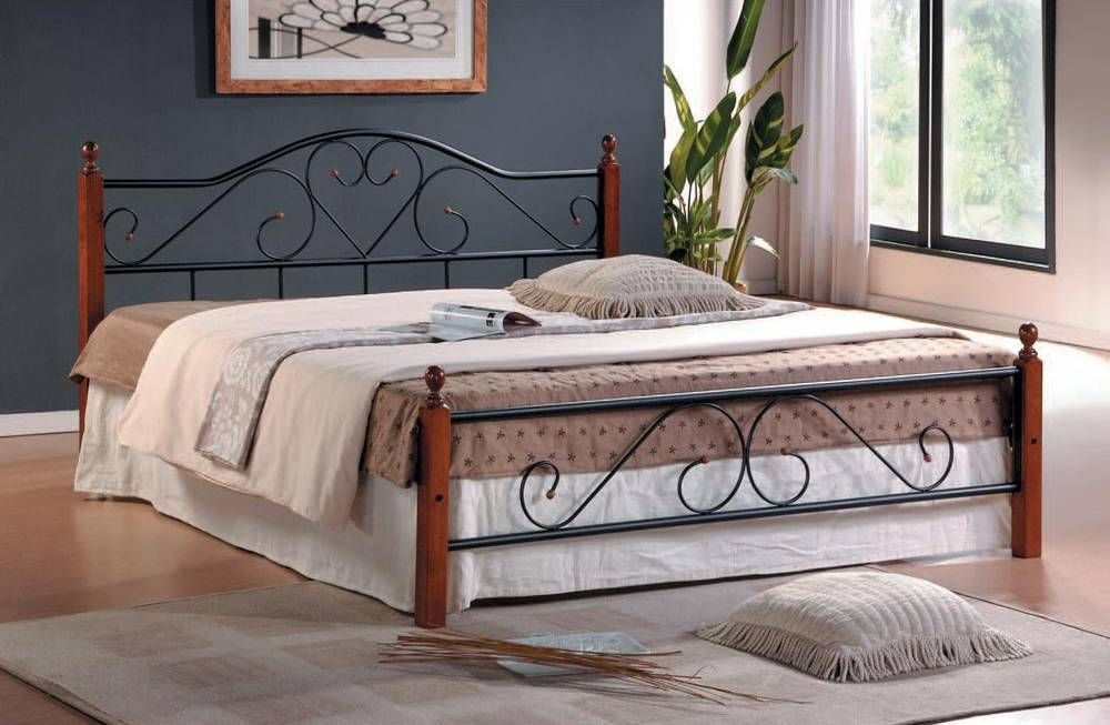 кровать из металла