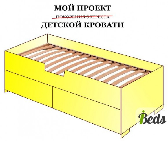 Рисованная кровать