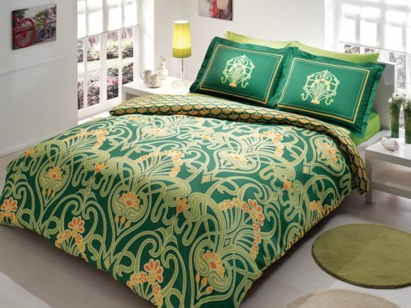 Зеленое постельное белье