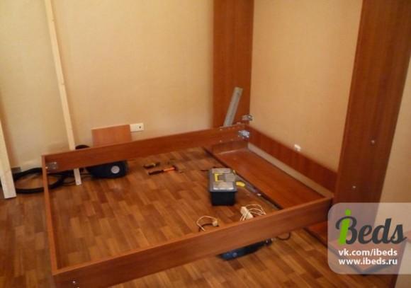 Как должно выглядеть соединение кровати-шкафа