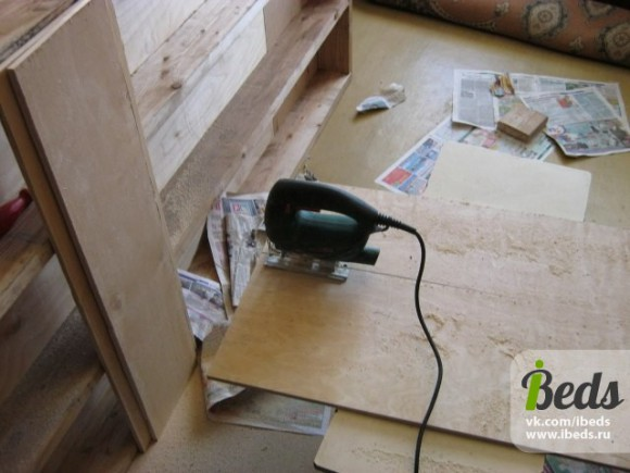 Заменяем бруски дерева фанерой