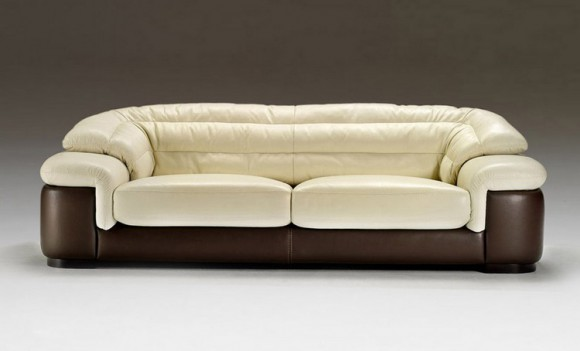 Элегантный диван из кожи