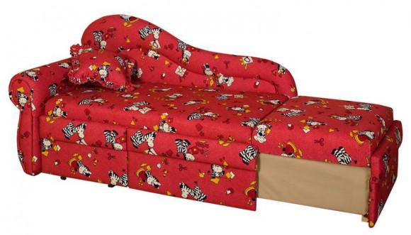 Красный диван для малыша