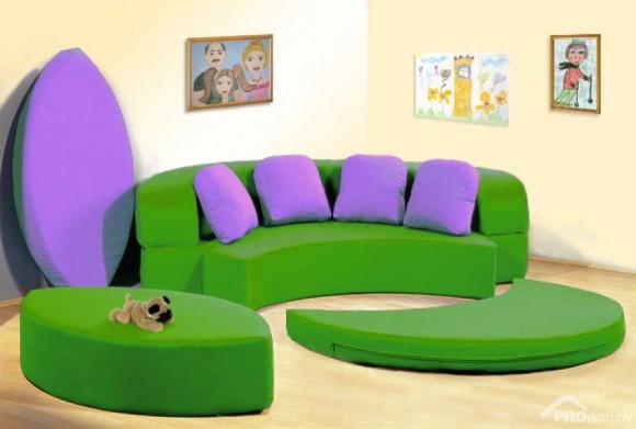 Круглый детский диван