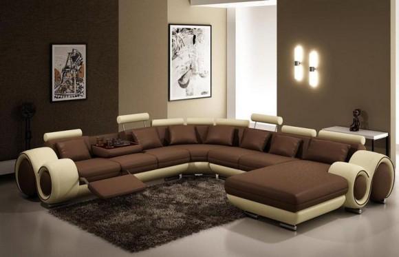 Кожаный диван для отдыха