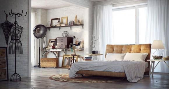 Красивая и современная спальная комната