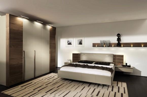 Современная спальня со шкафом