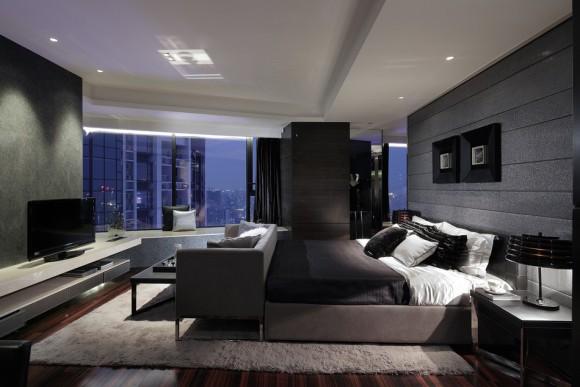 Современная многофункциональная спальня