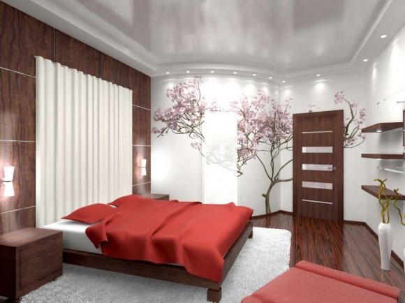 Красивый интерьер спальной комнаты
