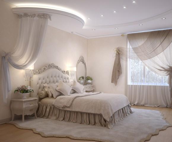 Спальня с красивым светом