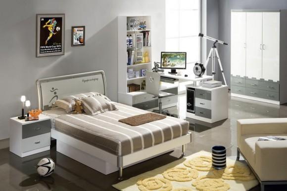 Строгий интерьер спальни для ребенка