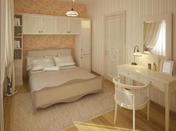 Уютное оформление спальной комнаты