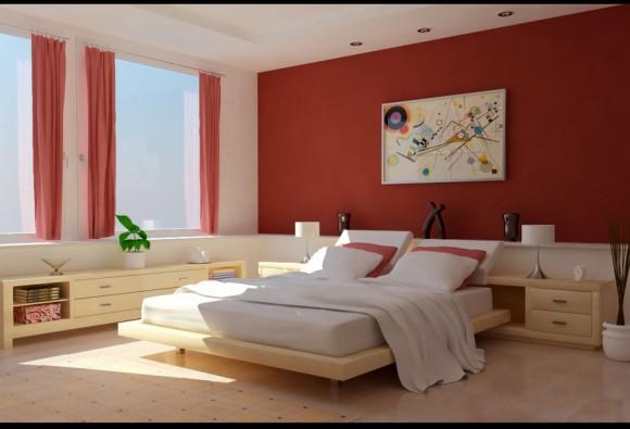 Красивая, солнечная спальня