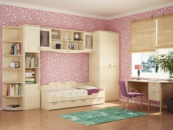 Спальная комната для девочки подростка
