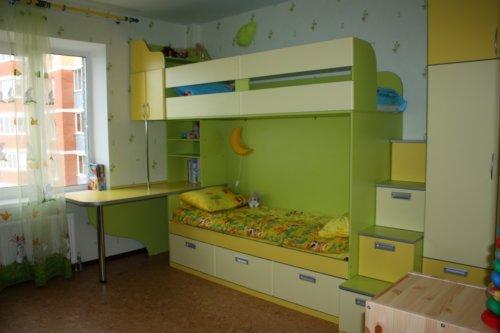 Мебель для детской зеленого цвета