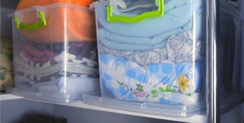 В пластиковом контейнере
