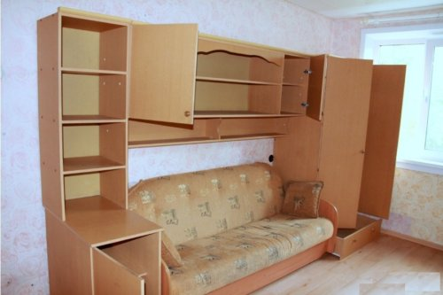 Компактное размещение мебели